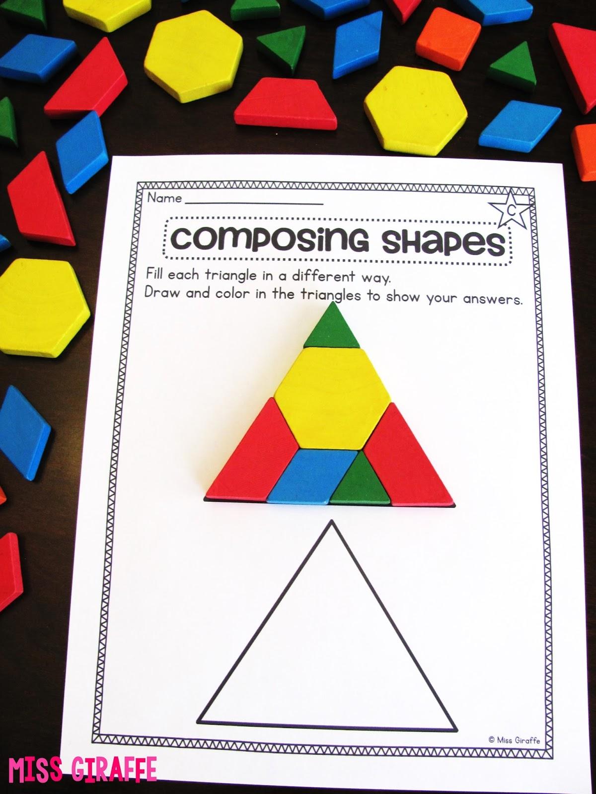 medium resolution of Miss Giraffe's Class: Composing Shapes in 1st Grade