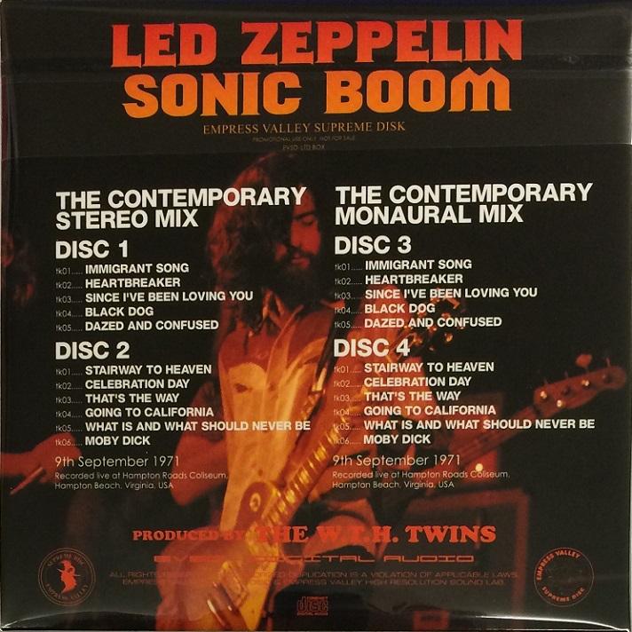 RELIQUARY: Led Zeppelin [1971 09 09] Sonic Boom (4CD Box Set