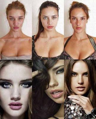 Top Model lustig - vorher nachher Bilder Make-up