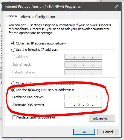 Pasang DNS Tercepat Windows