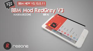 BBM MOD RedGrey V2.12.0.11 apk Terbaru