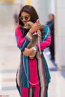 Priyanka Chopra in Colorful Jumpsuit arriving at JFK Airport New York 18 June 2017 ~  Exclusive 010.jpg