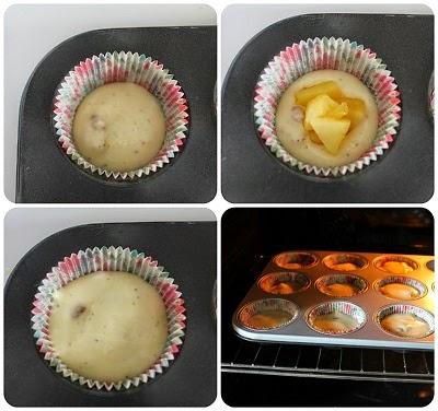 Cupcake alle mele noci e cardamomo con frosting al caramello mou