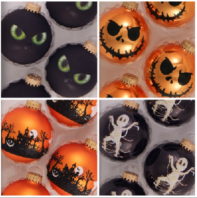 Halloween glass ornaments made in USA