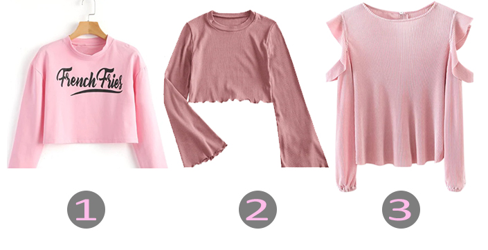 Pink Top Zaful - Lista de desejos