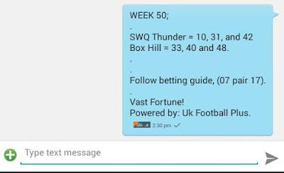 Week 50 members game on ukfootballplus