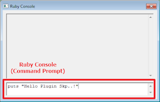 Ruby API SkecthUp - Ruby Console