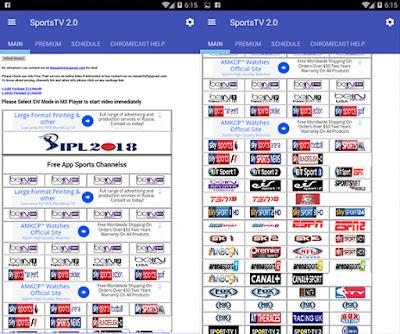 تطبيق sport TV Live لمشاهدة القنوات الرياضية المشفرة مجانا, برنامج Live Sports Tv لمشاهدة قنوات beIN SPORTS مجاناً
