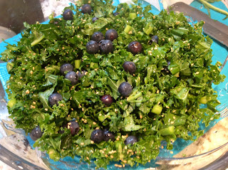 kale and blueberry