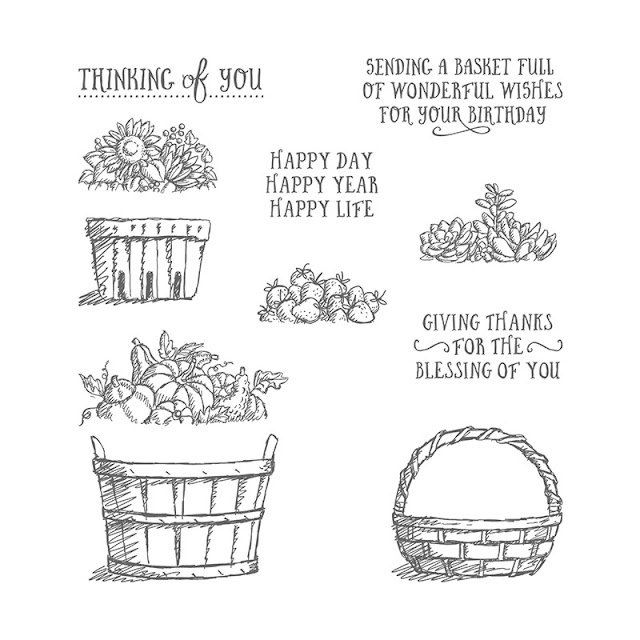Basket of Flowers stamp set, Stampin' Up!