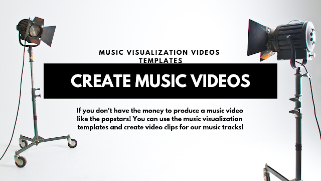 music visualization video templates for music tracks