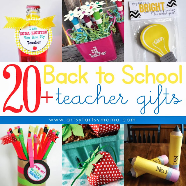 20 Back to School Teacher Gifts from Artsy Fartsy Mama