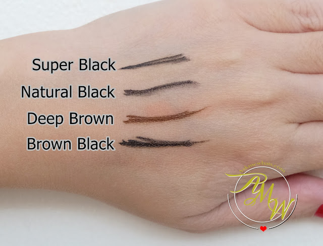swatch photo of K-Palette Real Lasting Eyeliners review in Brown Black, Natural Black, Deep Brown and Super Black by Nikki Tiu Askmewhats.com
