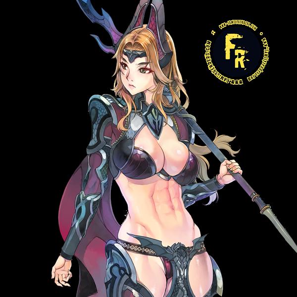 render warrior girl