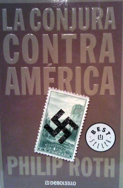 Portada de la conjura contra America de Philip Roth por El Guisante Verde Project
