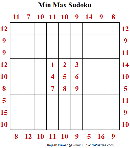 MinMax Sudoku Puzzle (Daily Sudoku League #215)