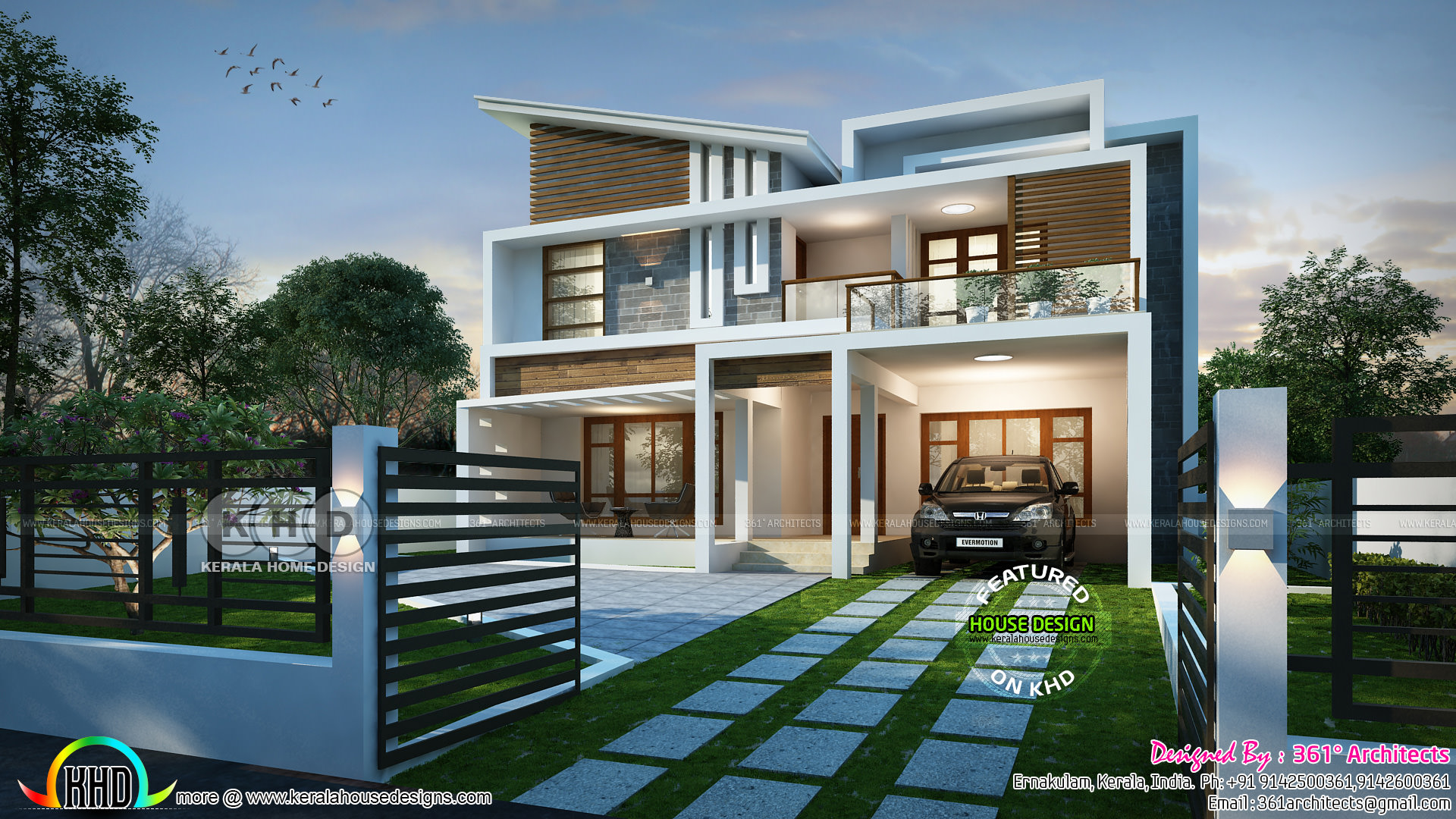Superb Contemporary House Estimated Cost Of 50 Lakhs