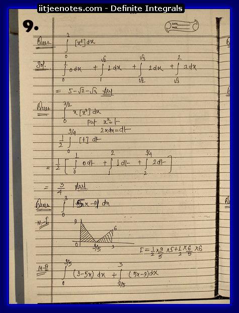 definite integrals 9