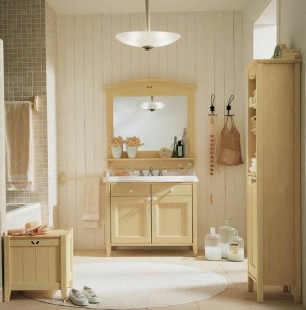 baño color beige
