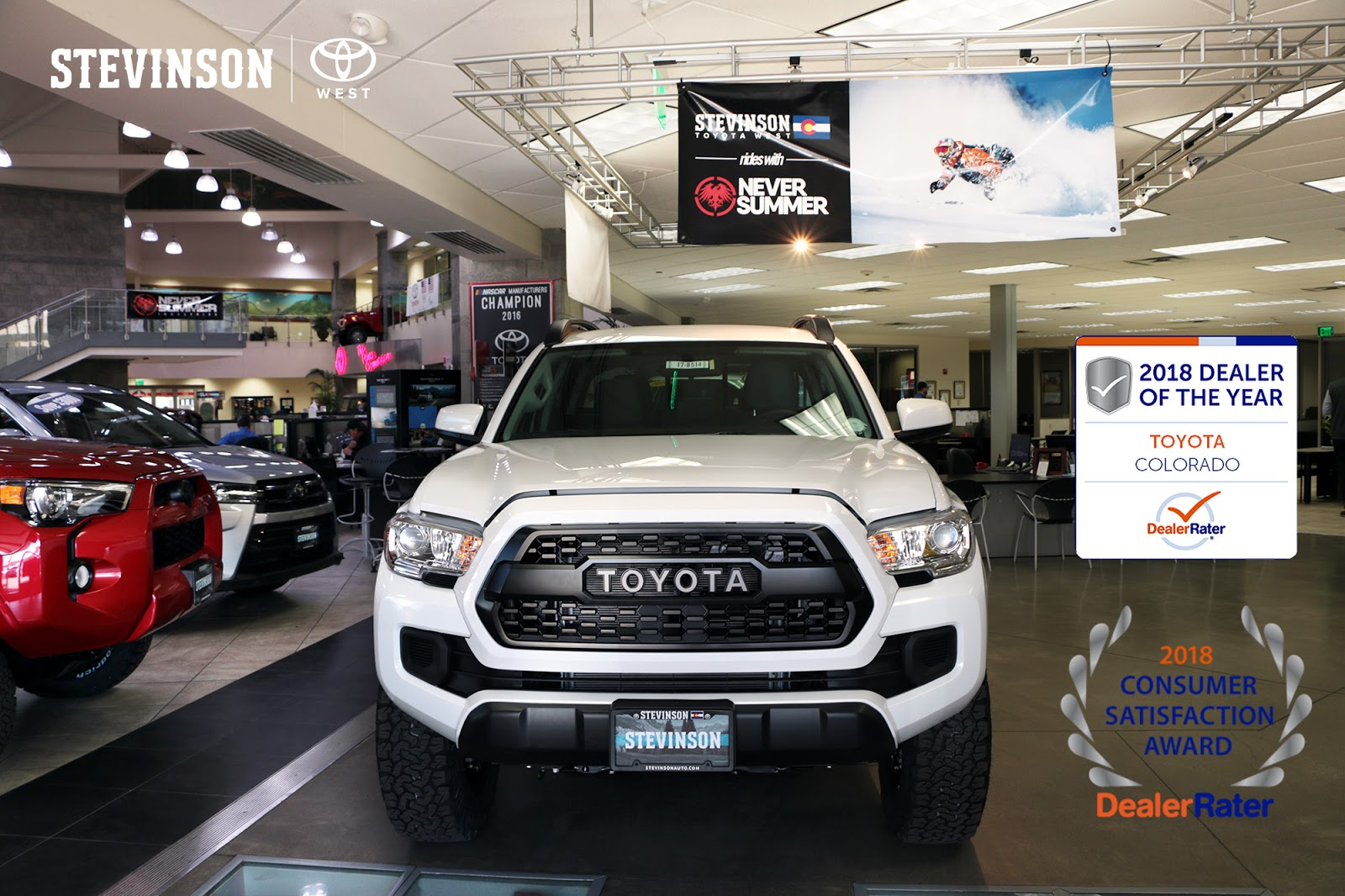 Stevinson Toyota West Awarded Dealerrater 2018 Dealer Of The Year Consumer Satisfaction Award