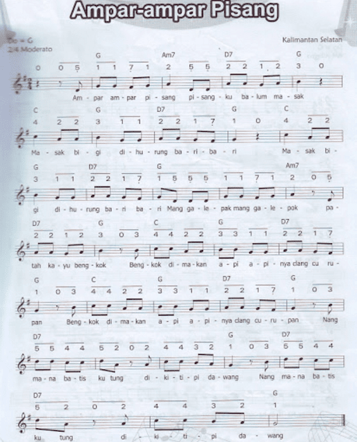 Ampar - Ampar Pisang - Lagu Daerah Kalimantan