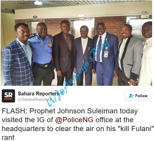More Trouble? Apostle Johnson Suleiman Spotted at the Office of IG of Police in Abuja (Photos)
