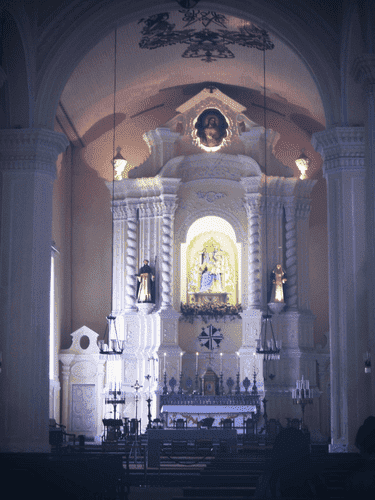 The interiors of Sto. Domingo Church at Largo do Senado in Macau
