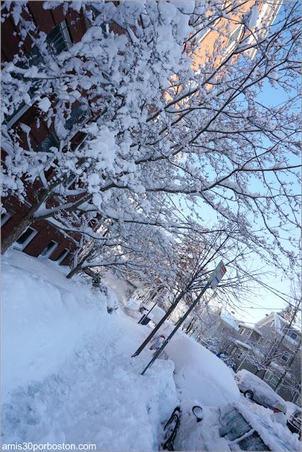 Calles de Cambridge después de la Tormenta Skylar