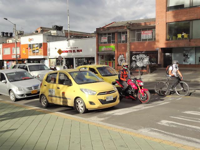 コロンビアのタクシーについて