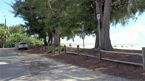 Parkplätze in Bayfront Park - Anna Maria Island, Florida USA