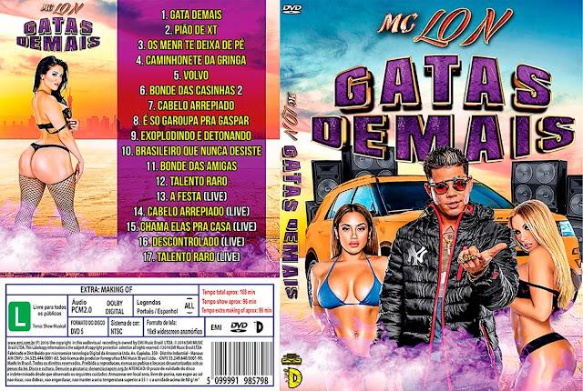 Capa DVD MC Lon Gatas Demais