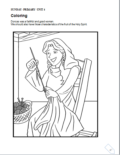 tabitha coloring pages - photo#26