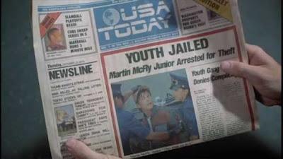 Prima pagina dell'''Usa Today'' come appare nel film