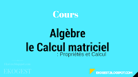 Algèbre : Cours sur le Calcul matriciel : Propriétés et Calcul