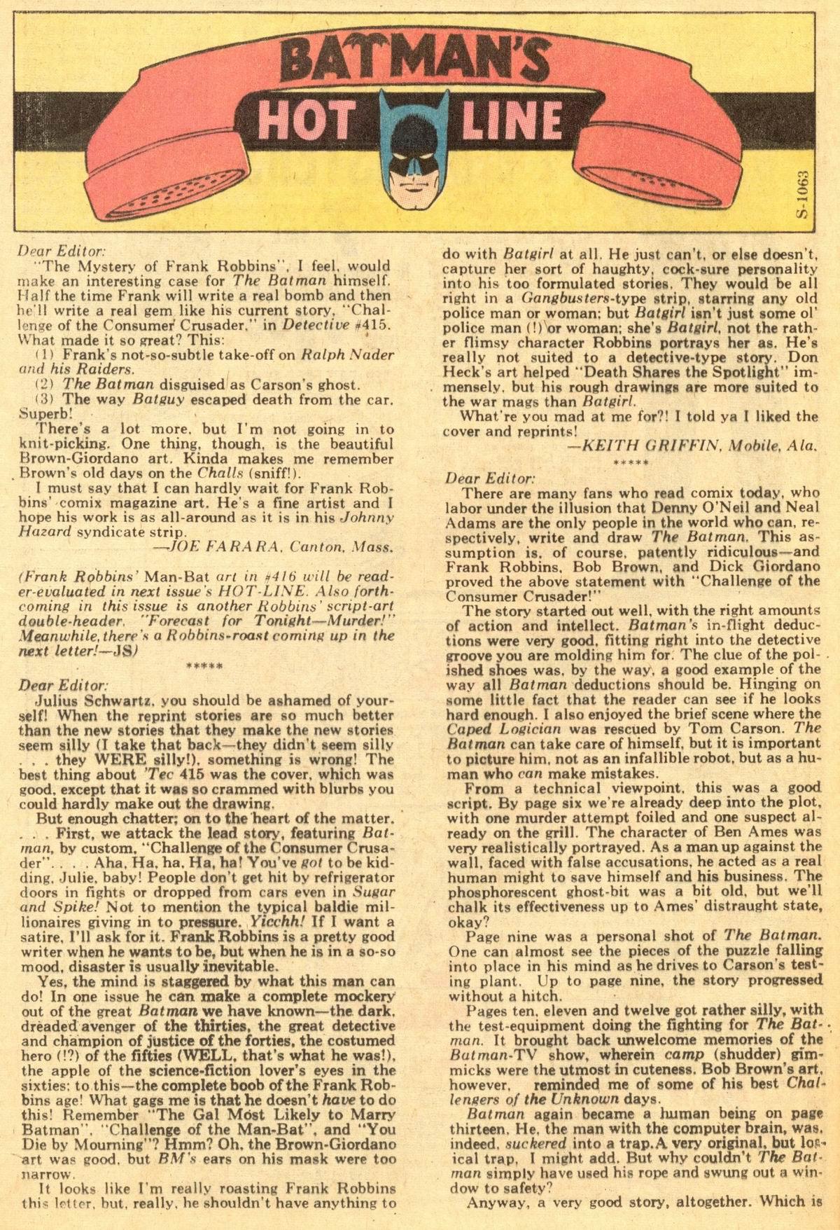 Detective Comics (1937) 419 Page 33
