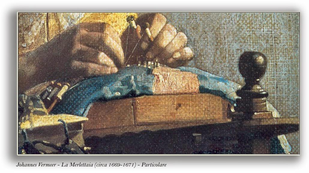 Vermeer - La Merlettaia - Particolare