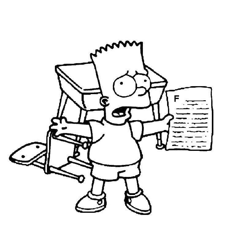 Desenho do simpsons para colorir - Bart simpson coloriage ...
