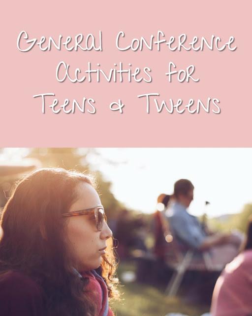 General Conference Activities for Teens & Tweens