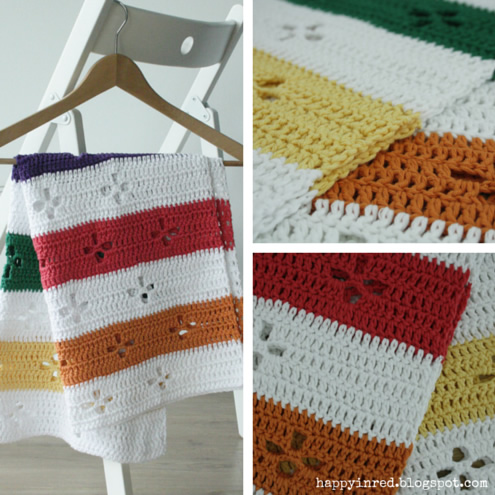 Funky fifties, crochet blanket: pattern | Happy in Red