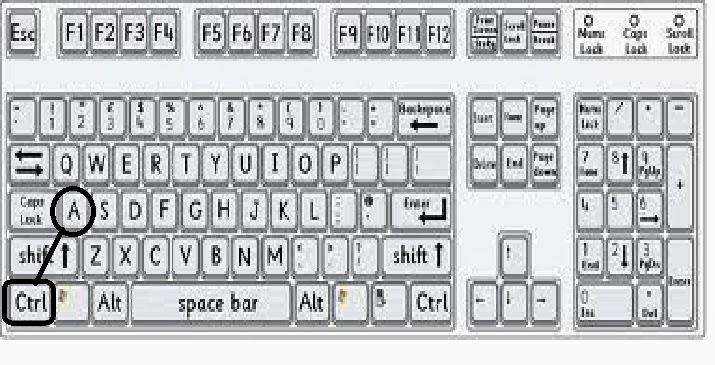 melakukan tombol kombinasi keyboard