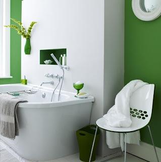 Baño color verde