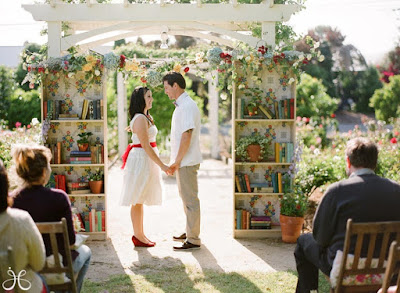 wedding arch bookshelf bookcase