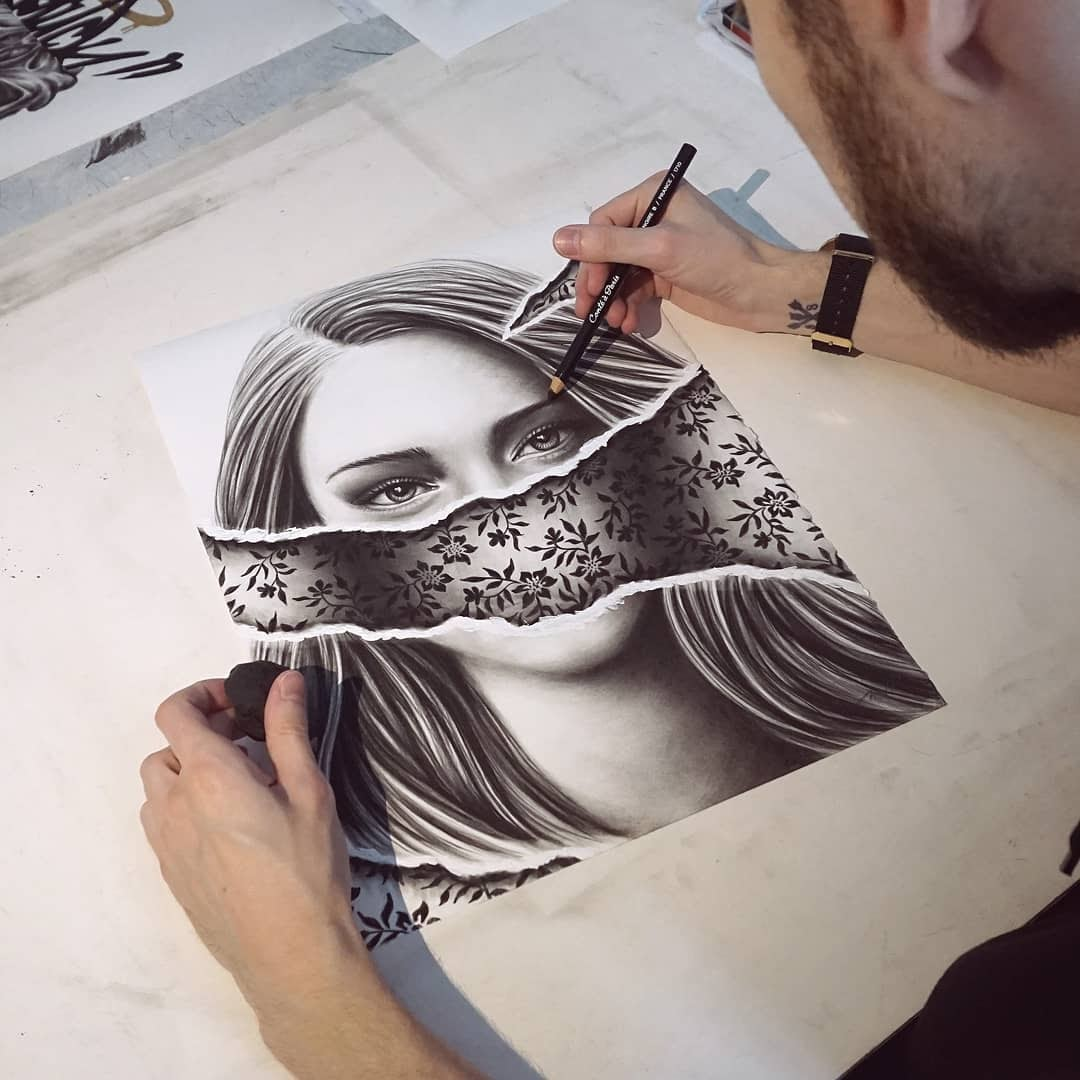 12-Lucien-Gilson-NOIR-Stylised-Portraits-and-Animal-Drawings-www-designstack-co