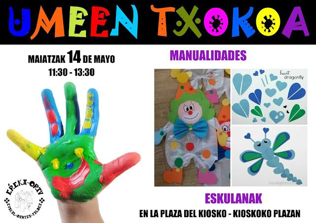 Cartel del taller infantil del grupo Erreka-Ortu