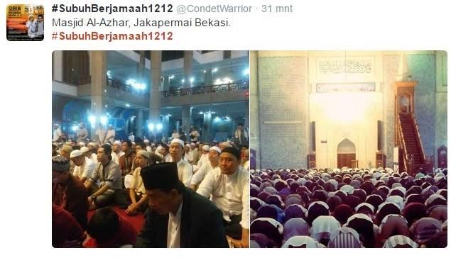 Umat Muslim Berbondong-Bondong Laksanakan Shalat Subuh Berjamaah, Lihat Foto-Fotonya