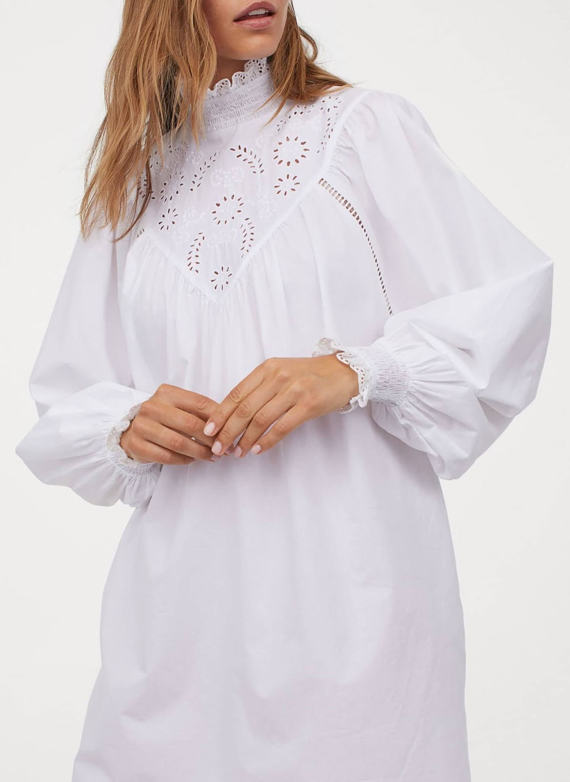 embroidered-detail tunic