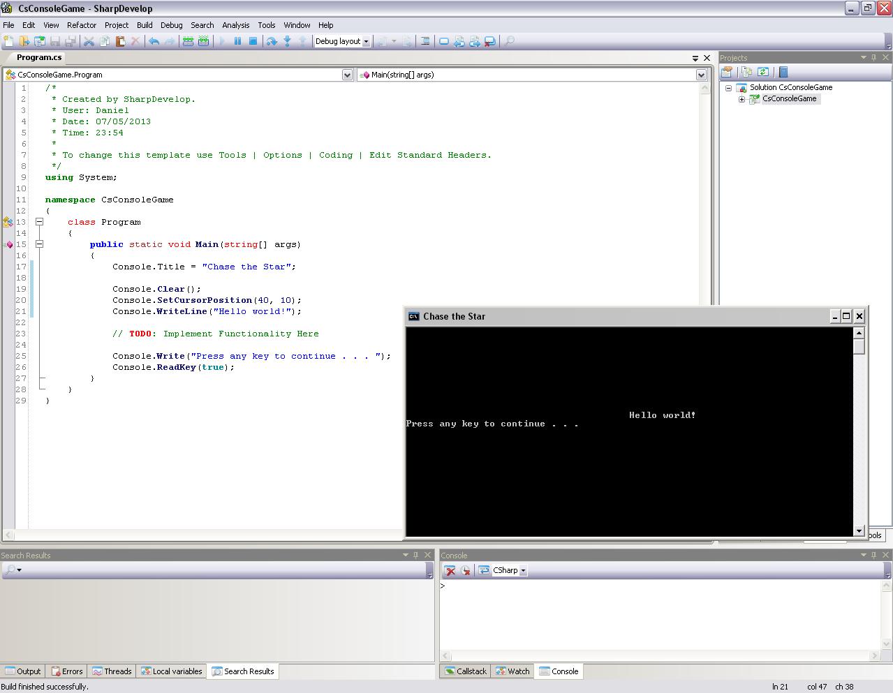 Programmer's Ranch: C#: ASCII Art Game (Part 1)