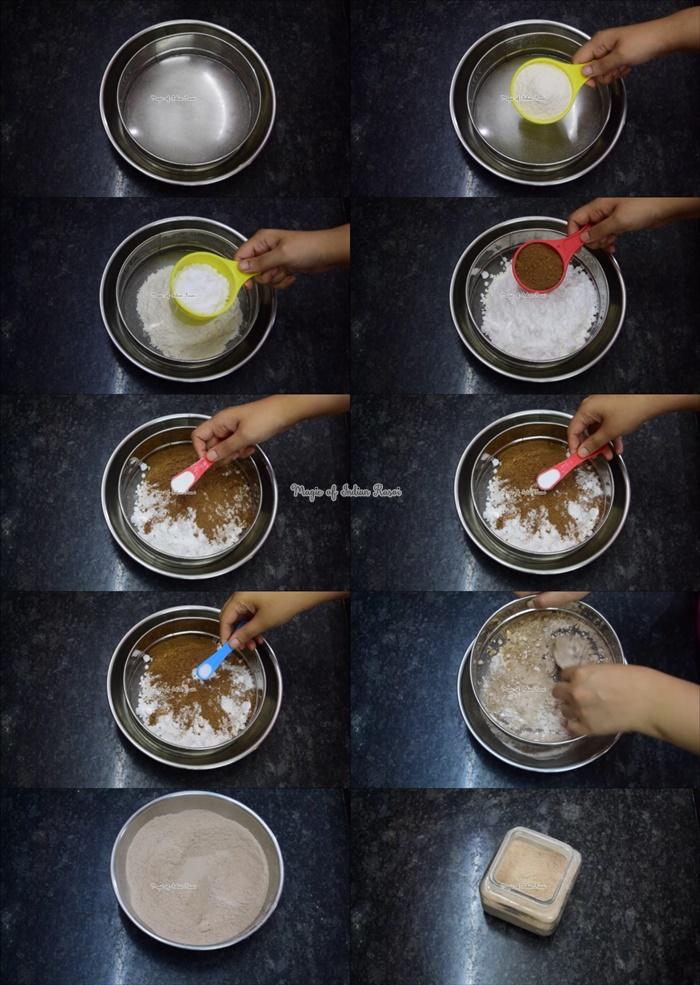 Eggless Chocolate Cake Premix Recipe - बिना अंडे का इंस्टंट चॉकलेट केक मिक्स घर पर बनाये - Priya R - Magic of Indian Rasoi
