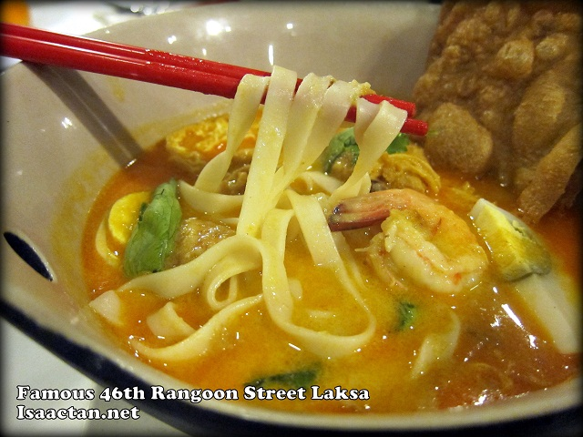 Famous 46th Rangoon Street Laksa with Prawn and Crispy Beancurd Skin