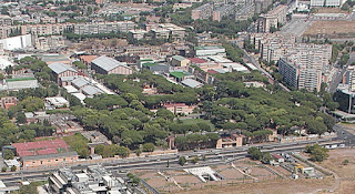 The Cinecittà complex in Rome, situated about 12km (8 miles) southeast of the city centre